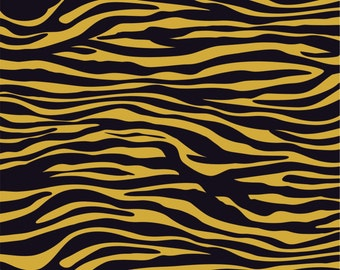 Gold and black zebra print craft  vinyl sheet - HTV or Adhesive Vinyl -  pattern vinyl not metallic HTV1229