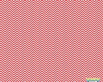 Red and white mini chevron craft  vinyl sheet - HTV or Adhesive Vinyl -  zig zag pattern HTV1517