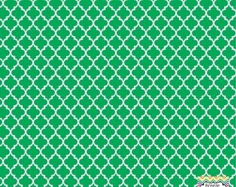 Green quatrefoil craft  vinyl sheet - HTV or Adhesive Vinyl -  quarterfoil pattern   HTV1414