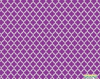 Purple quatrefoil craft  vinyl sheet - HTV or Adhesive Vinyl -  quarterfoil pattern HTV1436
