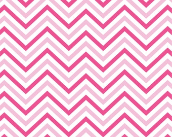 Light pink and hot pink chevron craft  vinyl sheet - HTV or Adhesive Vinyl -  zig zag pattern  HTV177