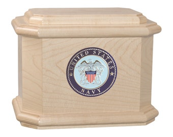 Maple Diplomat Military Wood Cremation Urn