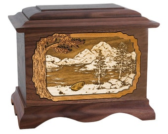 Walnut Mountain Lakes Ambassador Wood Cremation Urn