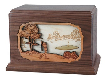 Walnut Golf Hampton Wood Cremation Urn