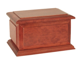 Small Keepsake Boston Cherry Wood Cremation Urn