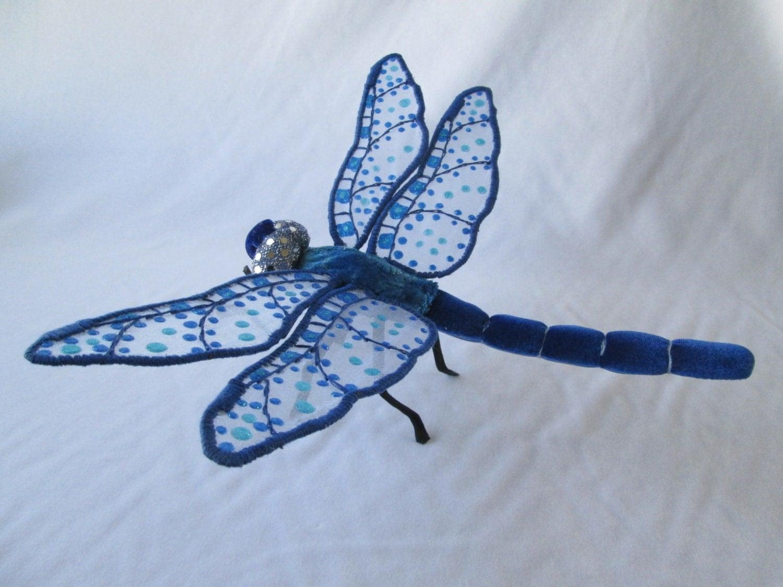 Dark blue velvet dragonfly wall art decor 13 for Dragonfly mural