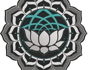 Sacred Geometry Lotus Sticker