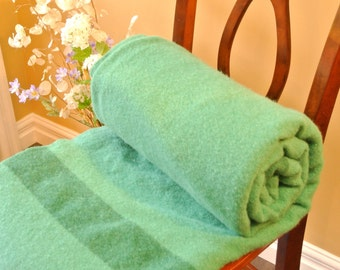 Condon's Pure Wool Green Blanket, P.E.I.
