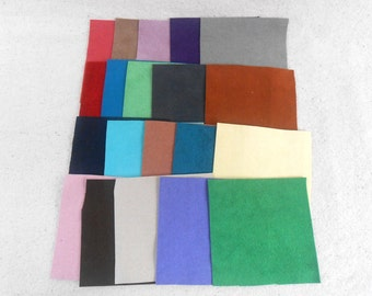 Ultrasuede Sample Pack 4 inch squares collection of 20 in assorted colors