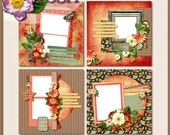 Digital Scrapbook: Just Watch Me Quick Page Set 1 8 inch Layouts