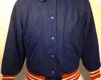 FREE  SHIPPING   Woman Reversible 1960 Varsity  Jacket