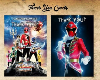 Power Rangers Thank You Cards