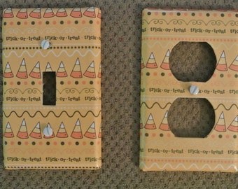 Switch plate cover - Halloween Candy Corn