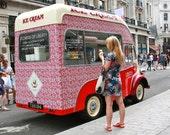 "15"" x 10"" Photography Print - Liberty London Summer Ice Cream Truck"