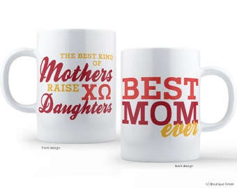 ChiO Chi Omega Best Mom Sorority Mug