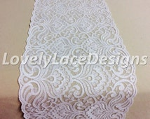 Wedding Lace Table Runner, 5ft-10ft x 7in  Wide/Rustic Weddings/Overlay/Wedding Decor/Tabletop Decor/Etsy finds/etsy trends/ENDS NOT SEWN