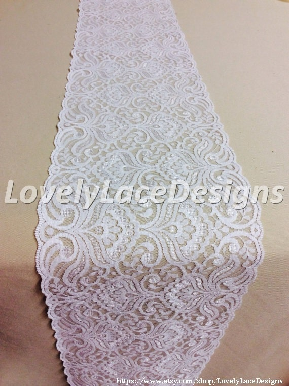 wedding lace table runner 5ft 10ft x 7in by lovelylacedesigns