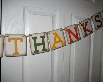 Give Thanks Banner, Thanksgiving Banner, Fall Banner, Thanksgiving Decoration, Thanksgiving