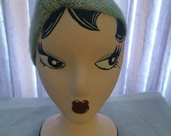 Hand knitted womans headband