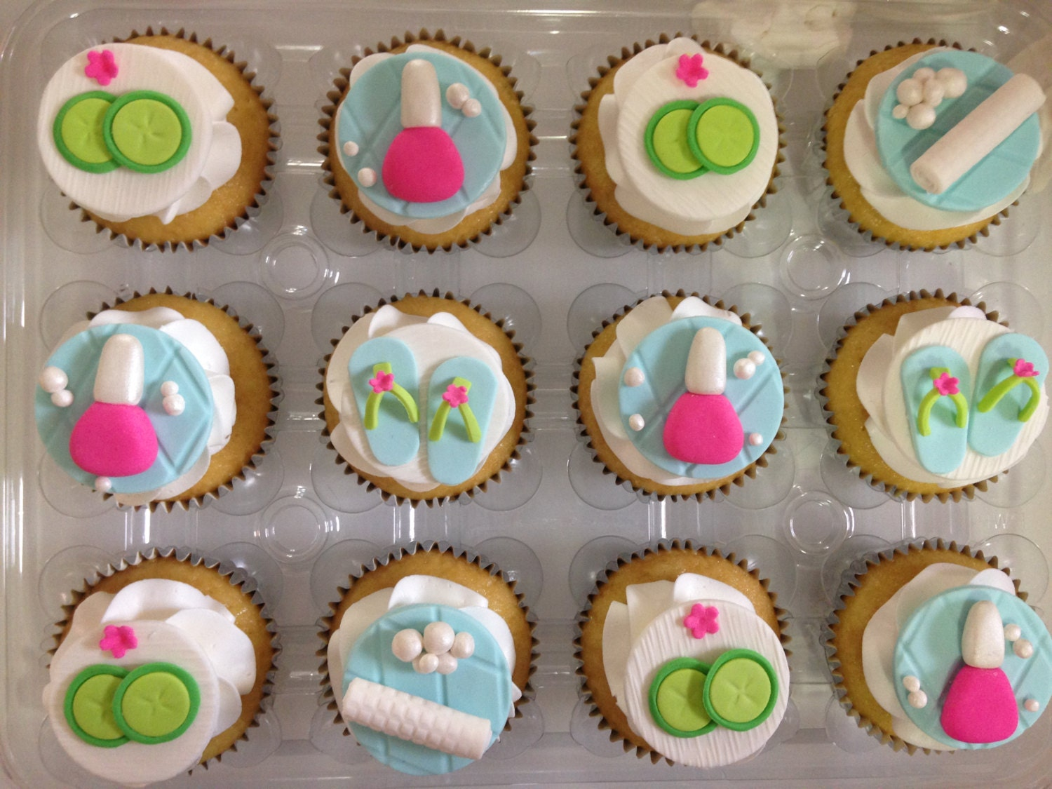 Pamper Party Cake Toppers