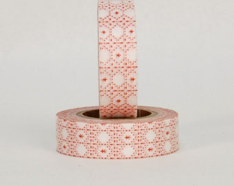 MT Washi Tape - Single Roll Red Tile