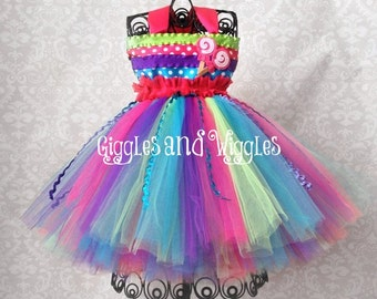 Lollipop Birthday Tutu Dress, Candy Birthday Party Outfit