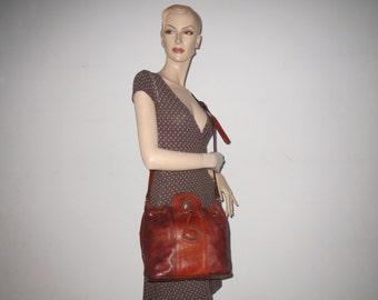 Vintage Giudi bag bag shoulder bag Brown