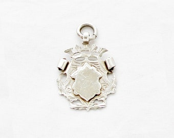 Antique 1912 Sterling Silver Fob Pendant