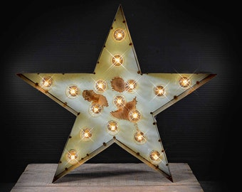 Vintge Style Marquee Sta show in Soft Blue, Marquee Star, Marquee Letter, Lighted MARQUEE SIGN, Marquee sign, Marquee Light Star Marquee