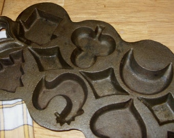 Cast Iron Candy  Cake or Pastry Mold