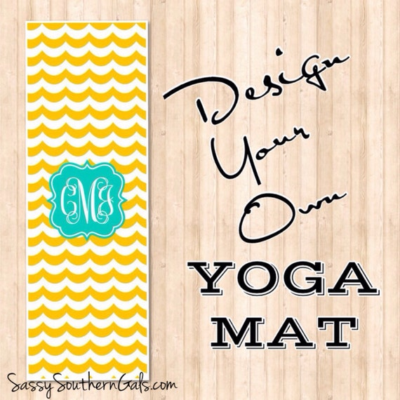 Items Similar To Monogrammed / Personalized Yoga Mat