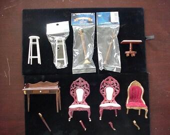 Dollhouse Miniature Furniture Pieces & Parts