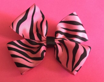Zebra Print Hair Bow