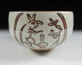 Vintage Karatsu-ware Rabbit Chawan