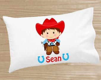 Personalized Kids' Pillowcase - Cowboy Pillowcase for Boys - Cowboy Pillow Case - Custom Cowboy Pillow Slip
