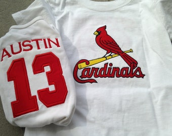 Personalized St. Louis Cardinals baby bodysuit