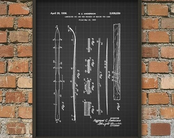 Ski (Winter Sports) Patent Wall Art Poster