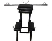 Deluxe steel stockade bench