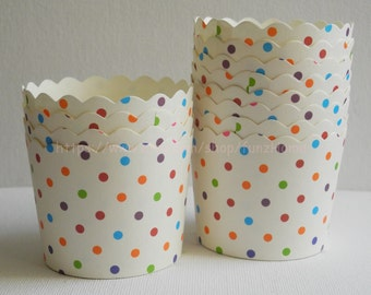 20 pcs colourful Dot Paper Muffin Cups Baking Cups Candy Nut Popcorn Cups Ice-cream Cups