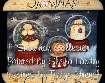 Snowman Collector - by Sheila Landry, PWF E Pattern