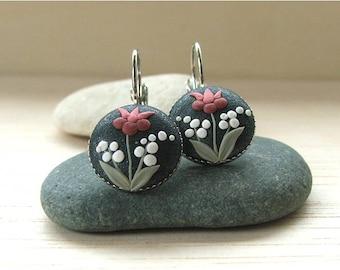 Boho Dangle Earrings Tulip Flower Earrings Bohemian Jewelry Gift for Her Bohemian Drop Earrings Boho Jewelry Boho Gift For Her Birthday Gift