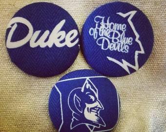 Duke Blue Devils Button Earrings - Large