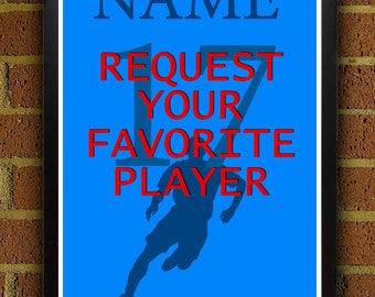 Request Your Favorite Player Poster - 8x10, 8.5x11.5, 13x19, poster, art, wall decor, home decor, soccer, football, futbol