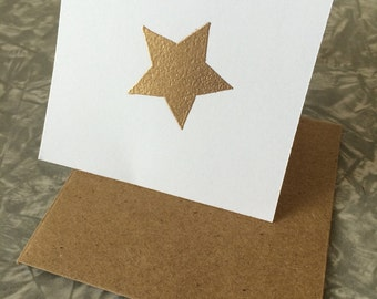 Embossed Mini Star Gift Cards Set of 10