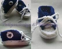 Baby Tennis Shoes, Crochet Tennis Shoes, Crochet Converse Shoes, Crochet Sneakers, Baby Booties, Baby Sneakers, Baby Converse