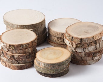 SALE 10 assorted wood slices, rustic wood slices for DIY,  weddings, favors, crafts & more - set of 10 blank wood slices for christmas tags