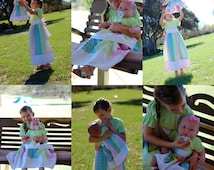 Springtime Lil' Mommy & Baby Doll Matching Dresses {Sizes 6mos, 12mos, 18mos, 2T, 3T, 4T, 5, 6, 7, 8, 10, and 12}