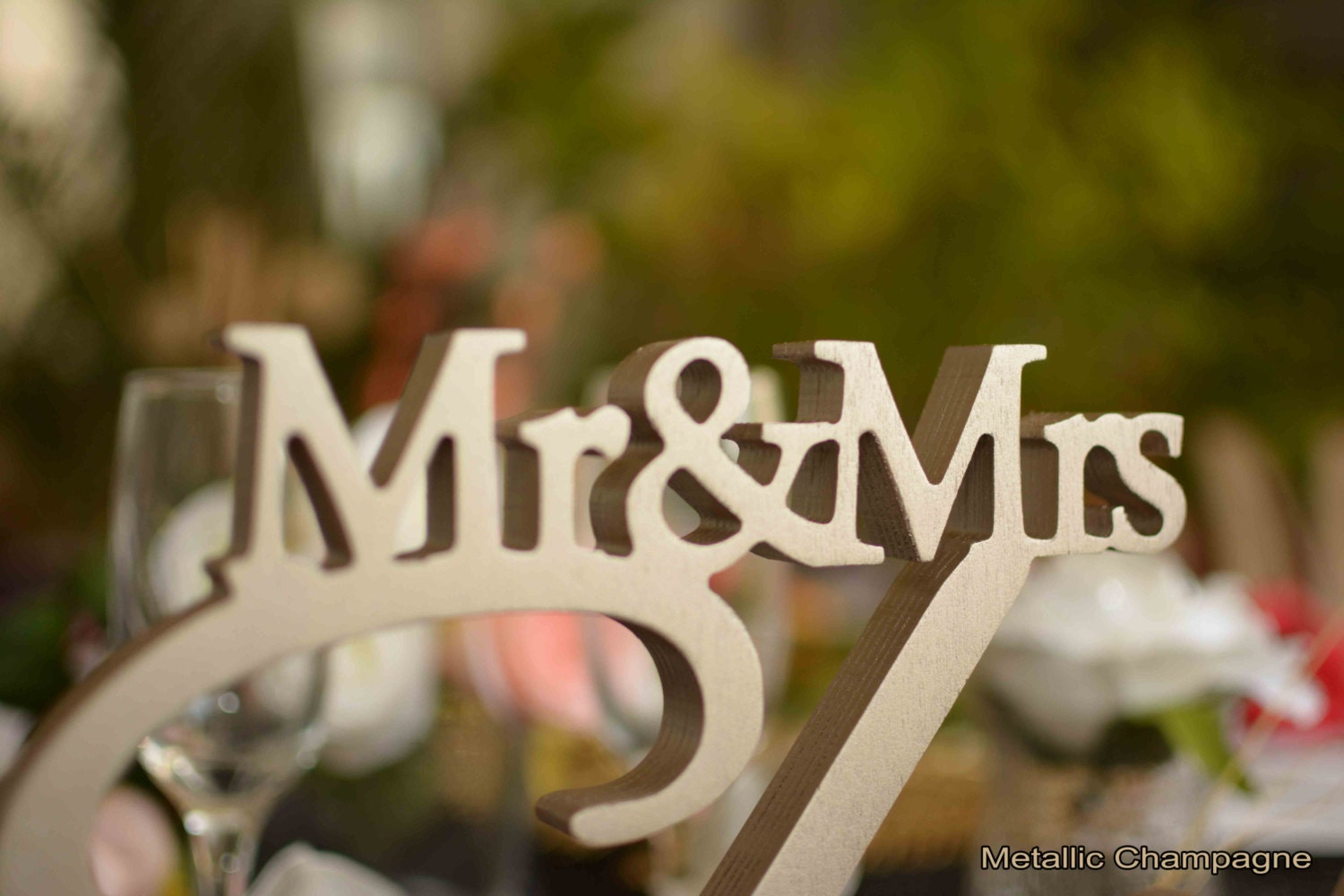 Mr & Mrs Sign Last Name Personalized Wedding Sign
