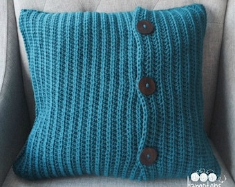 "Crochet Pillow Cover Pattern for 20"" by 20"" insert"