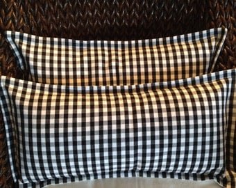 Beautiful Black and White Check Plaid Pillow Cover